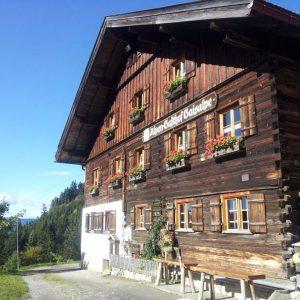Das Holzhaus der Gaisalpe