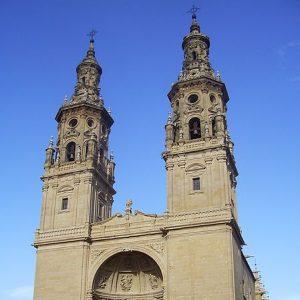 Die Fassade der Kathedrale von Logrono