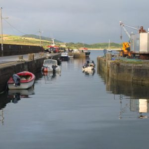 Abendstimmung am Hafen von Cleggan