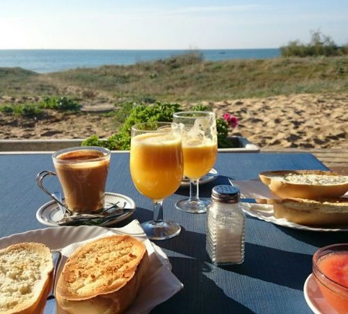 Frühstück am Strand