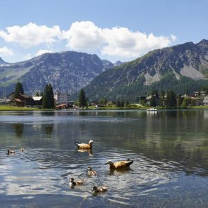 Obersee mit Enten in Arosa