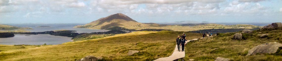 Die Hochmoor- und Berglandschaft beim Diamond Hill