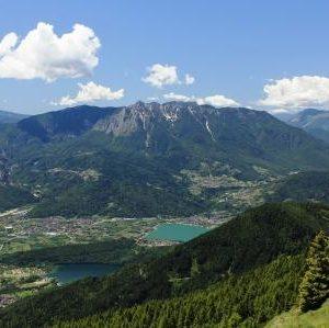 Blick auf den Caldonazzo und Levico See