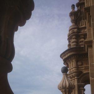 Blik vom Turm der Kathedrale von Santo Domingo de la Calzada
