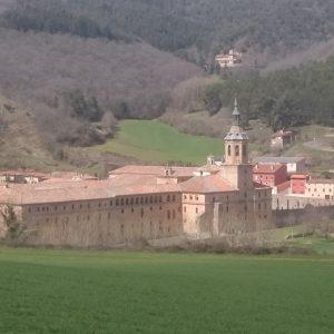 Die Klosteranlage Yuso von oben