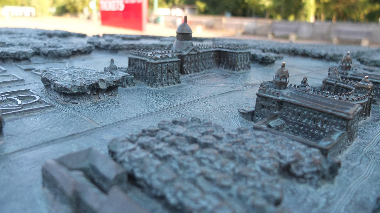 Parkanlage Potsdam als taktiles Modell