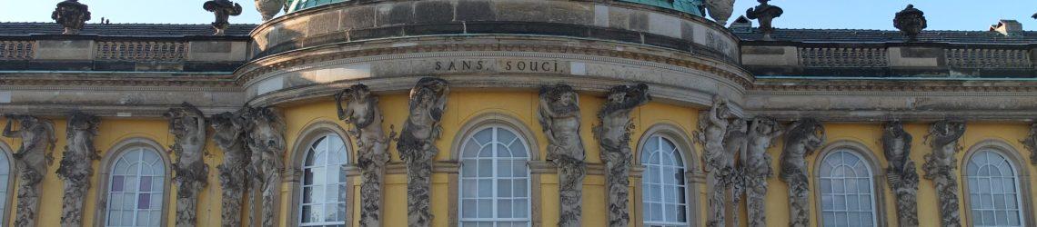 Die Fassade des Schloss Sans Souci
