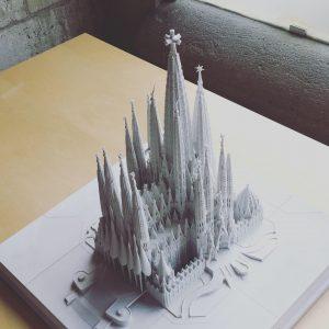 Tastmodell der Sagrada Familia