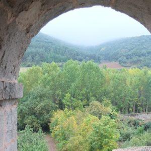 Blick aus dem Hotelfenster des Kloster Yuso