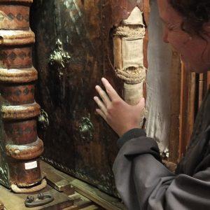 große, in Leder eingebundene Chorbücher aus dem 18. Jh.