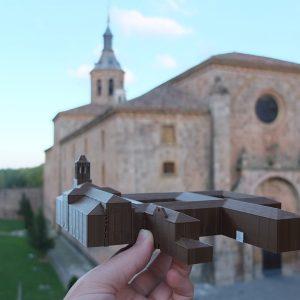 Das Kloster Yuso mit einem tour de sens Modell im Vordergrund