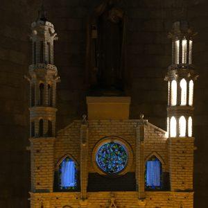 Tastmodell der berühmten Kirche Santa Maria del Mar im Gotischen Viertel