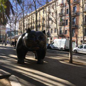 Überdimensionale Katzenskulptur: El Gato del Raval