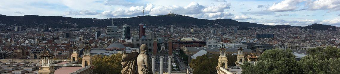 Stadtansicht Barcelona vom Montjuic aus
