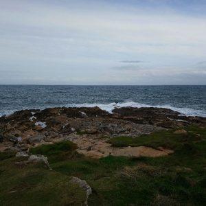 Blick vom Tarbat Ness über die schottische Küste