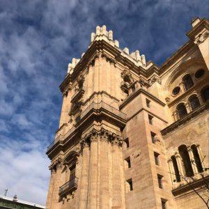 Fassaden-Ausschnitt der Kathedrale von Málaga