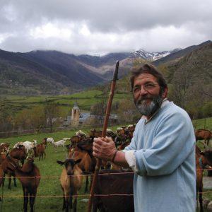 Der Ziegen- und Schafhirte in den Bergen