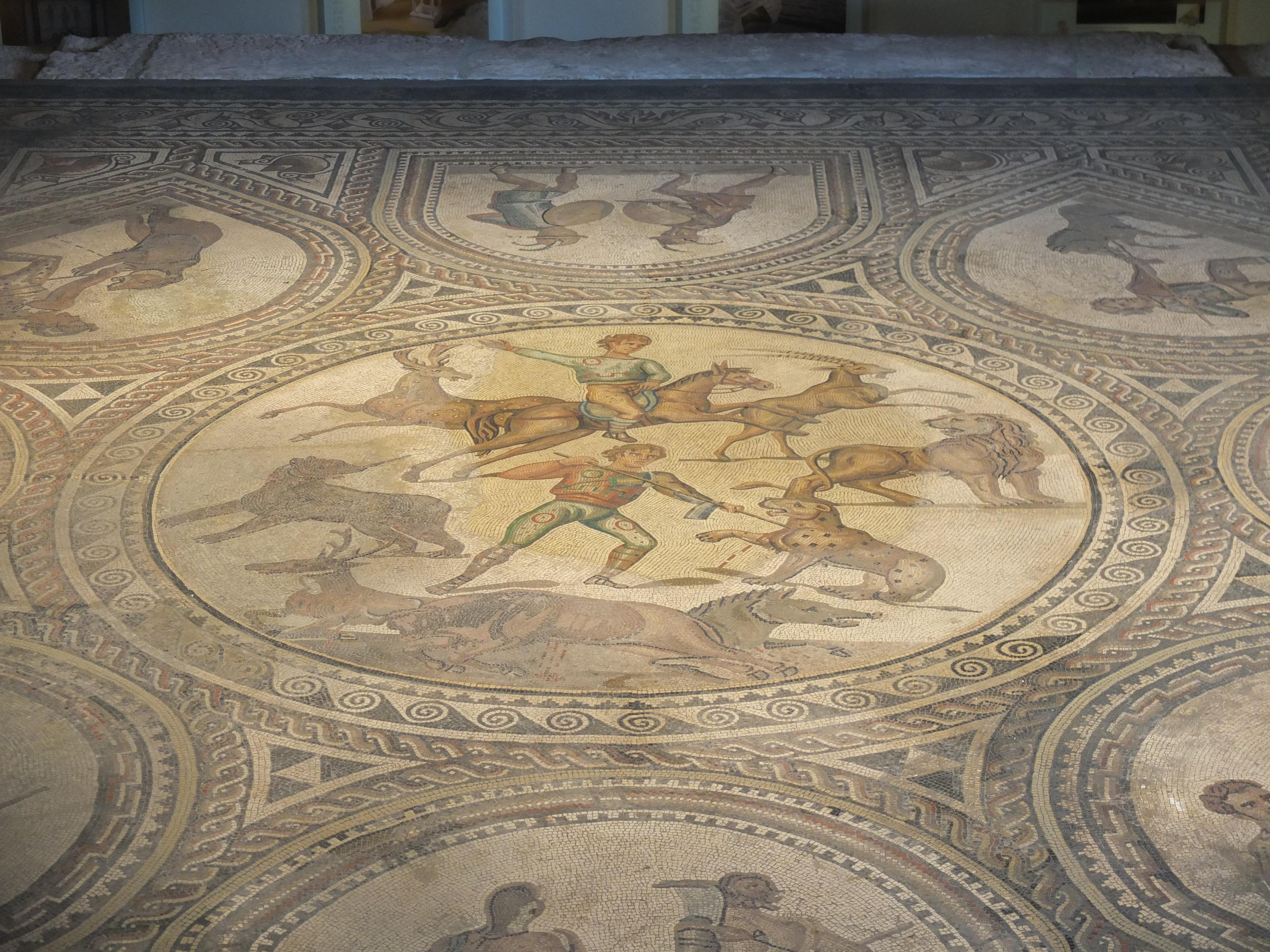 Gladiatoren-Mosaik