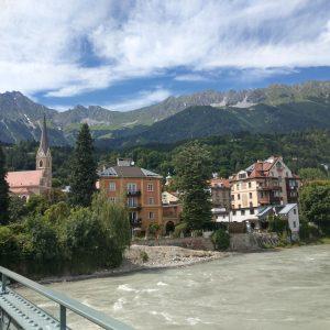 Auf der Innbrücke in Innsbruck