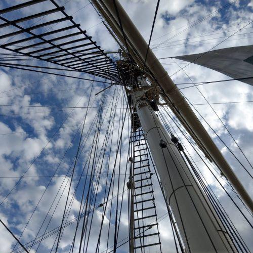Takelage eines Segelsfrachters