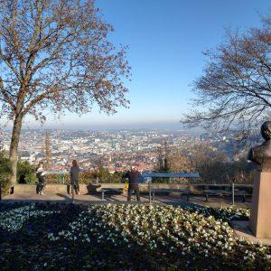 Aussichtspunkt am Santiago de Chile Platz