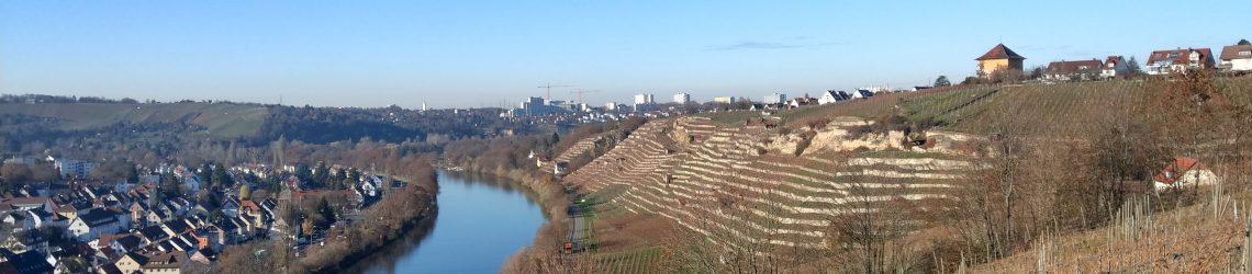 Neckarschlaufe, Weinberge und Stuttgart-Münster